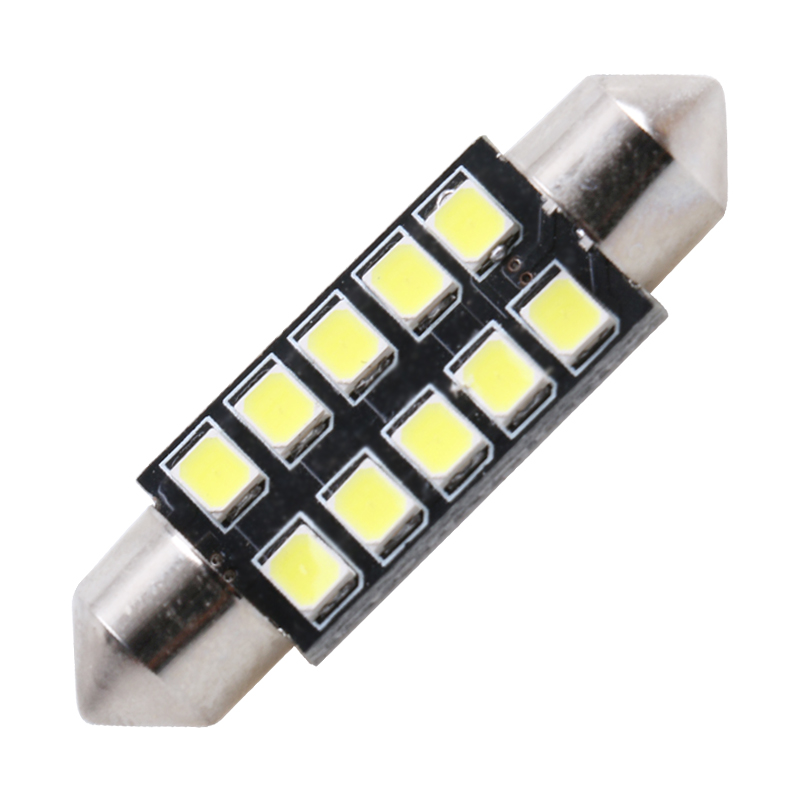 2x Mercedes Sprinter 903 3-T Bright White 8SMD LED Canbus Number Plate Bulbs