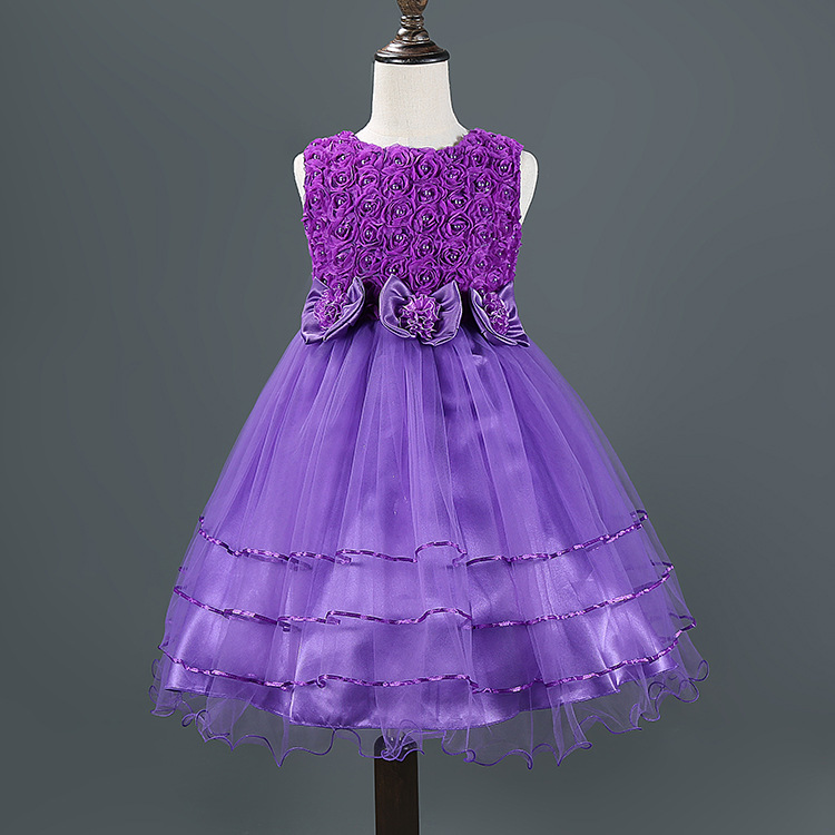 Summer Style 3-10 Year Princess Dress For Girls Flowe lace baby ...