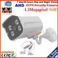 1.3MP AHD Camera 960P HD With 4Pcs Array Leds Waterproof CCTV Security System Outdoor Analog High Definition Home system kit