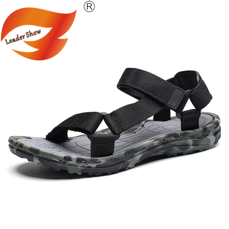 Men Sandals Beach Slippers Lovers Fashion Unisex Men Beach Sandals Breathable Slippers High Quality Summer Mesh Large Size 35-45