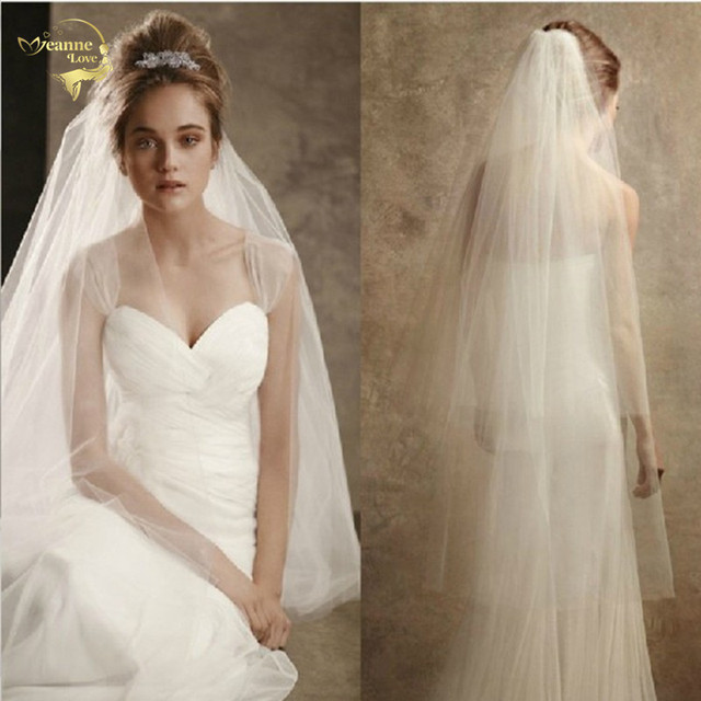 New Two Layers Short Veil With Comb Wholesale Simple Cut Edge Veil Soft Tulle Bridal Accesorie White Ivory Wedding Veils OV3915