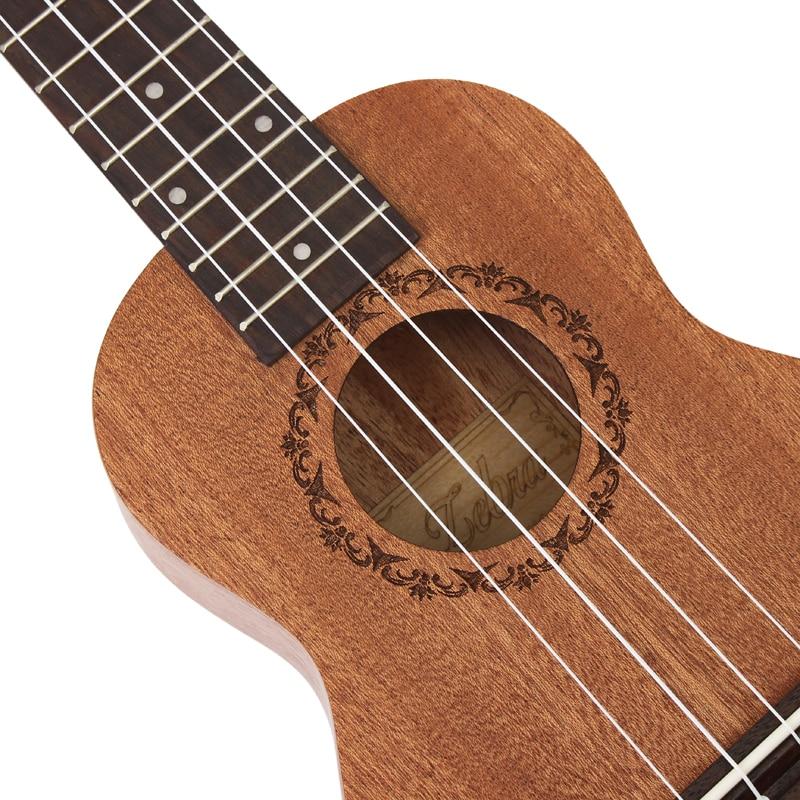 21 inčni 15 fretova mahagoni sopran ukulele gitara sapele ružino - Glazbeni instrumenti - Foto 3