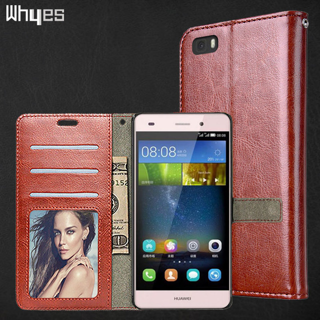 Whyes For Huawei P8lite Case Huawei ALE-L21 Phone Cover Flip Cases Wallet Photo Frame PU Leather Case For Huawei P8 Lite 2016