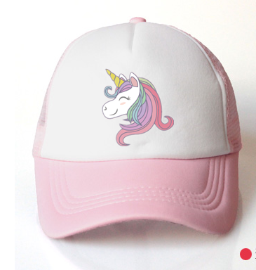 Baby Girl Hat Cap Unicorn Accessories 3-8 Years Pink Baseball Cap Summer Sun Truck Hat Girls Kid Cap For Children