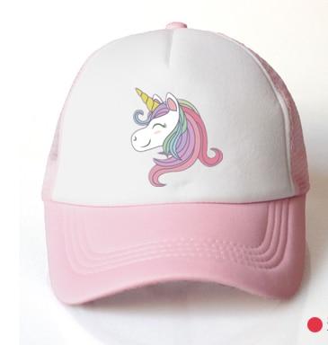 Шапка для маленьких девочек, Кепка с единорогом, аксессуары От 3 до 8 лет, розовая бейсбольная кепка, летняя шляпа от солнца, грузовика, Детская кепка для девочек