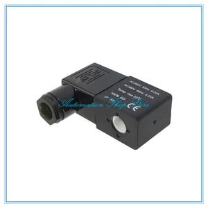 Пневматический Соленоидный клапан, катушка черного цвета, DC24V, AC36V, AC110V, AC380V