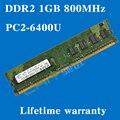 Пожизненная гарантия для samsung DDR2 1 ГБ 800 мГц PC2-6400U 800 DDR 2 1 г настольных памяти RAM 240PIN оригинальной аутентичной