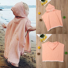 Toddler Kids Baby Girl Long Cape Hooded Tassel Cloak Poncho Jumper Clothes