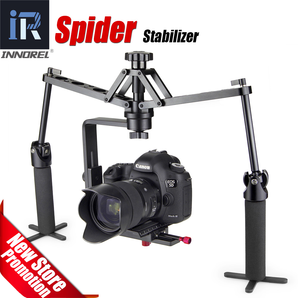 Rokas zirnekļa stabilizators Mehāniskā video steadicam platforma - Kamera un fotoattēls