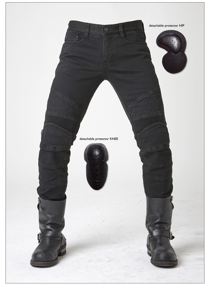 Casual straight black font b jeans b font UGLYBROS Guardian ubp09 font b jeans b font