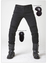 Casual straight black jeans UGLYBROS Guardian ubp09 jeans motorcycle protection pants men moto pants with detachable