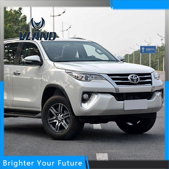 Daylight For Toyota Fortuner 2015-2017 White Daytime Running Lights DRL Front Fog Lamp daylight for toyota prado 2010 2013 white daytime running lights drl front fog lamp