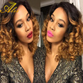 8A brazilian  body  Wave Ombre Hair 4 Bundles brazilian Virgin Hair with closure Ombre Human Hair Wet and Wavy Hair Extensions
