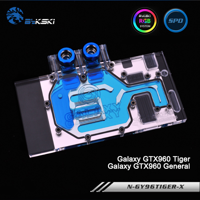 купить Bykski N-GY96TIGER-X Full Cover Graphics Card Water Cooling Block RGB/RBW/ARUA for Galaxy GTX960 Tiger/GTX960 General онлайн