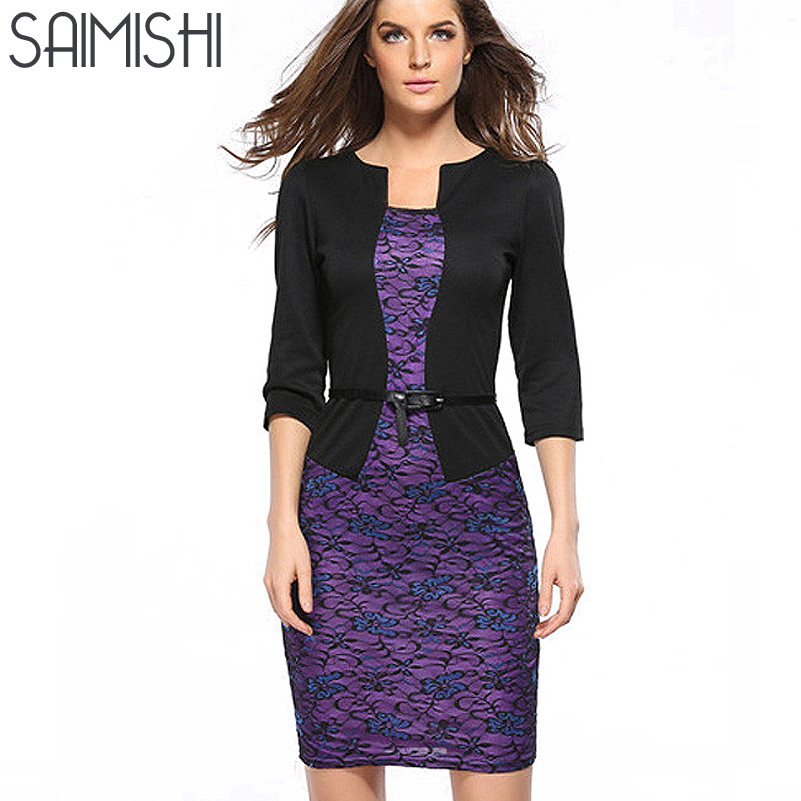 Lastest 2015 New Ladies Women Dresses Autumn Winter Work Office Long Sleeve Dress Party Sexy Club ...