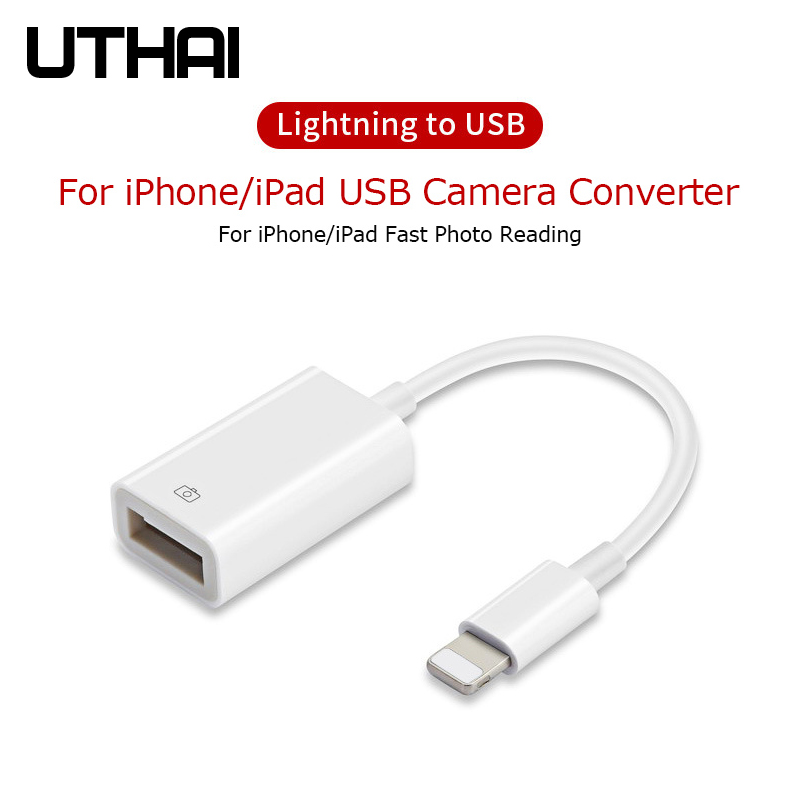 UTHAI C37 Lightning To USB Adapter For Iphone Ipad USB Camera Converter For Lightning Card Reader USB Connector