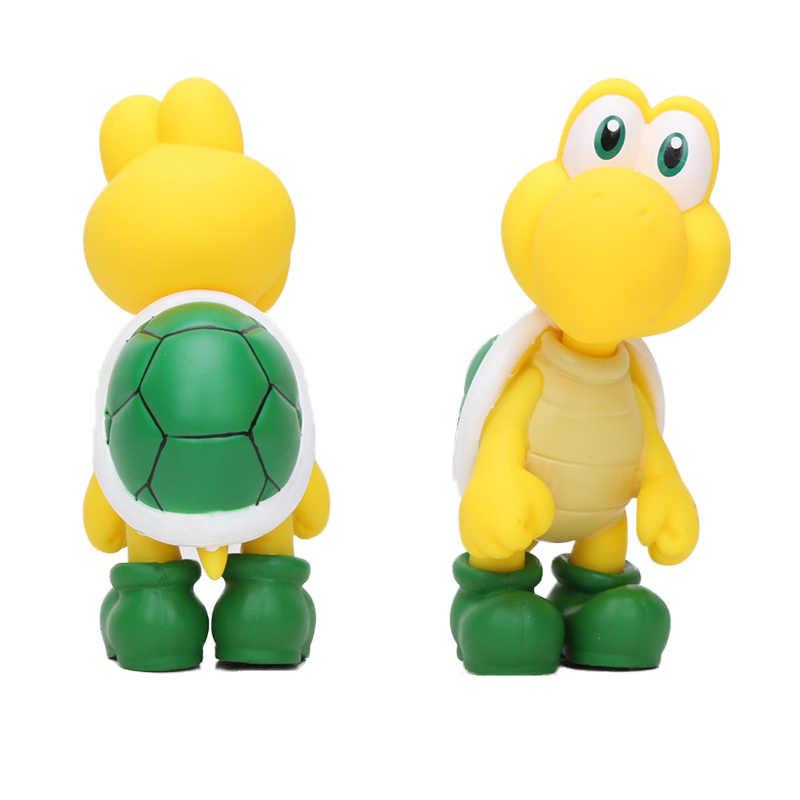 11CM anime cartoon super Mario bros Dry B Tortoise Mario Maker Odyssey  figure Toys TV Movie Dolls toy