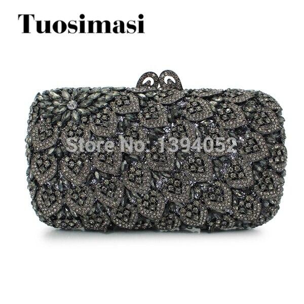 Black Rhinestone Clutch Evening Bag Indian Purses Whole Las Handbag 88169a B