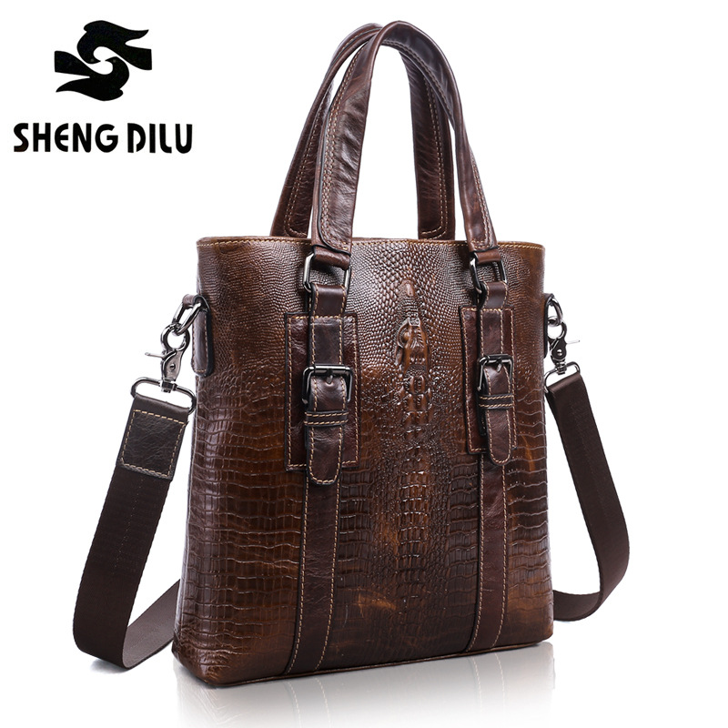 First Layer Genuine leather men Vintage shoulder bags men messenger bags crossbody bag men's leather handbag High Quality 2016 high quality vintage first layer 100% genuine leather men messenger bags handbag crossbody bag men s shoulder bags travel bag