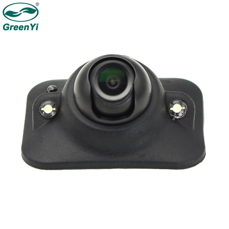GreenYi cámara de visión lateral de punto ciego para automóvil con LEDs IR de atenuación automática, cámara frontal, sin línea de guía, sin perforación, imagen sin espejo