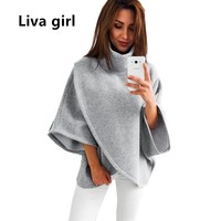Liva Girl Turtleneck Women Pullovers Oversized Autumn Winter Women Tops Jumper Runway Sweater Plus Size Winter