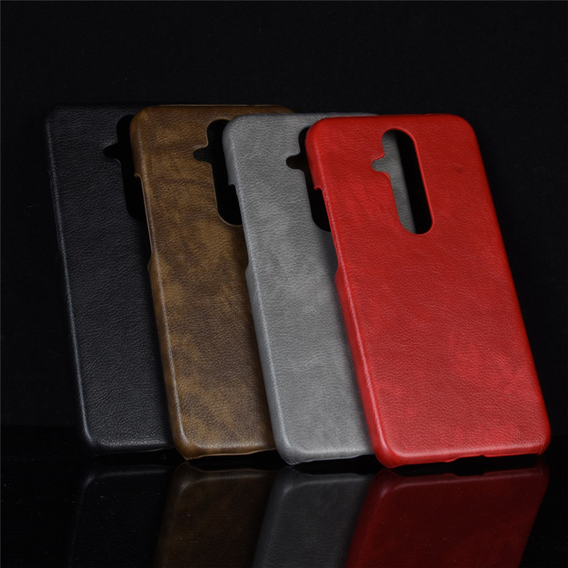 Nokia X71 Case For Nokia 8.1 Plus Case Hard PC Leather Phone Case For Nokia 8.1Plus X71 X 71 TA-1172 Case