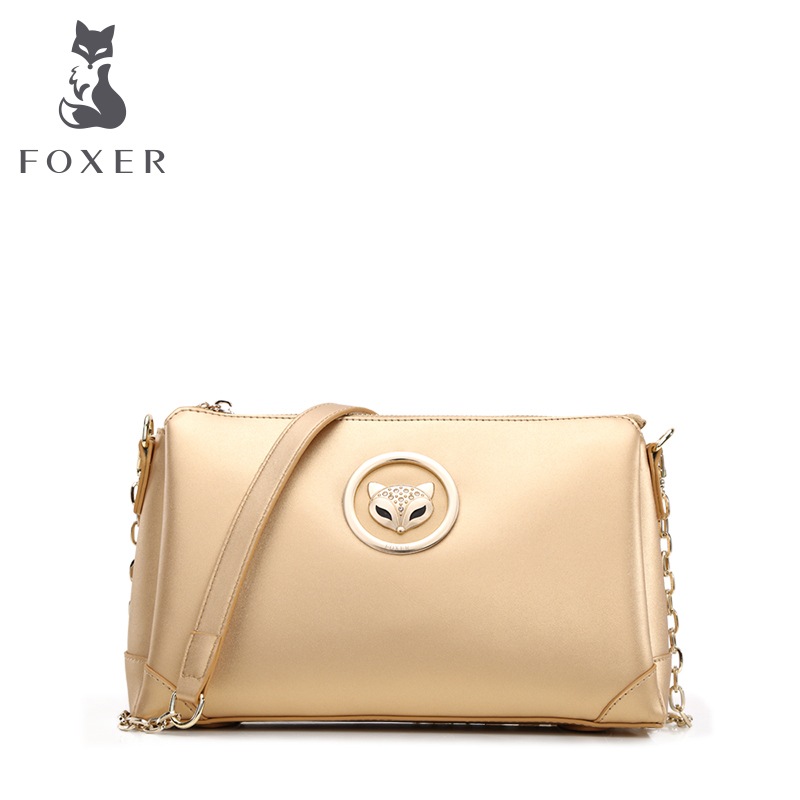 ФОТО FOXER Brand Girls Cow leather Crossbody long strap Bags Fashion Ladies small clutch bag