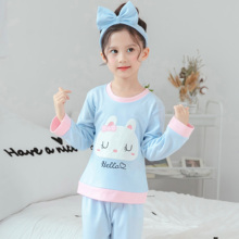 Girls Pajamas 2019 Spring Cartoon Long Sleeve Suit Casual Autum Kids Children for