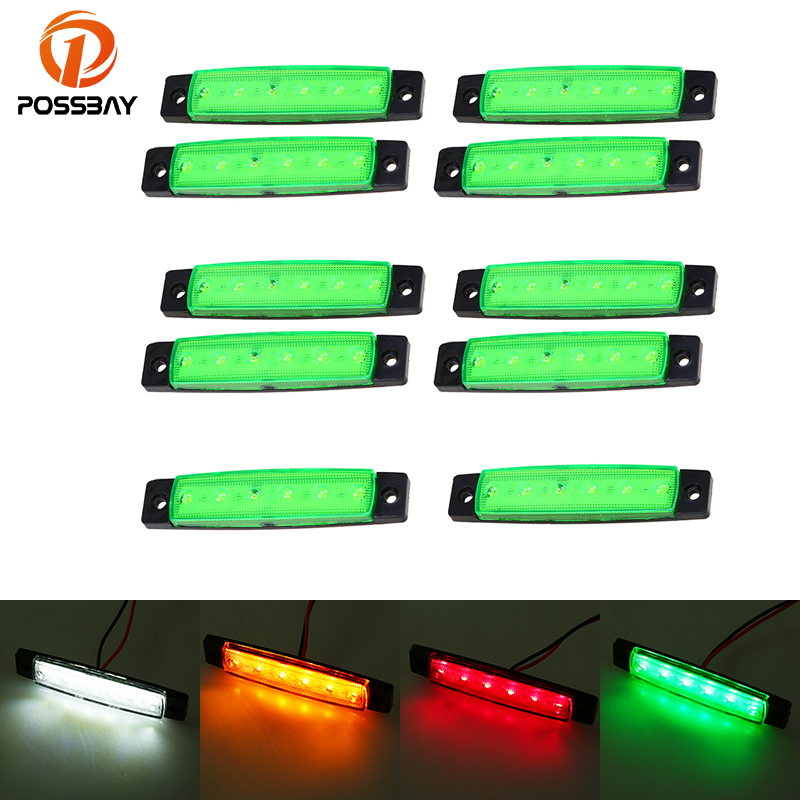 """10x White 3//4/"""" LED Marker Lights Triple Diode Truck Trailer Clearance Indicator"""