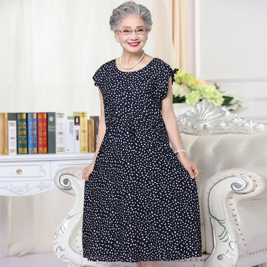 Dresses for women aged 60 popular summer dress for old for Wedding guest dresses for middle aged