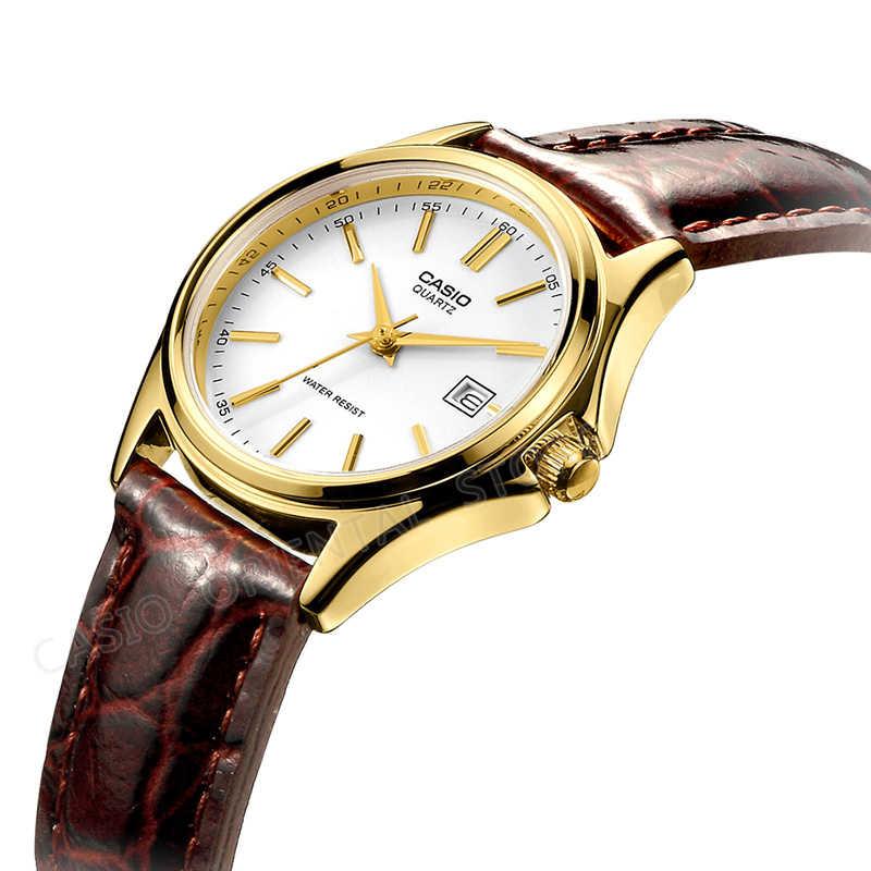 Casio classic Watch 2017 New Arrival LTP-1183Q-7A Quartz Watch Women Leather Dress Wristwatch Fashion&Casual Gold Clock LTP-1183
