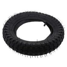 1 Uds., 12,5x2,75, caucho a Gas y neumático para escúter, tubo interno eléctrico, conjunto de válvulas rectas para maquinilla de afeitar MX350 MX400, diseño de ranura de banda de rodadura negra
