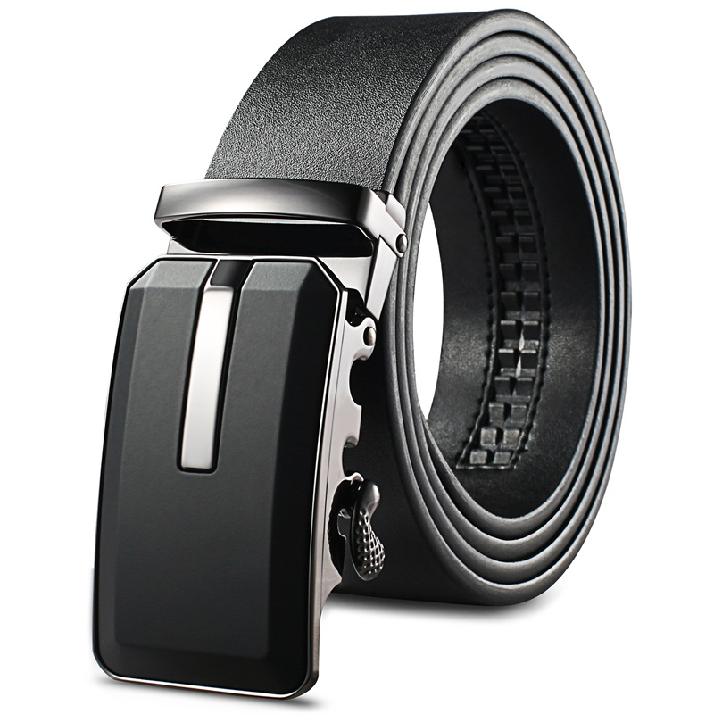 Yichaoyiliang Mens Heavy Duty Belt Ratchet Formal Genuine Leather Belts Cummerbunds Luxury man's
