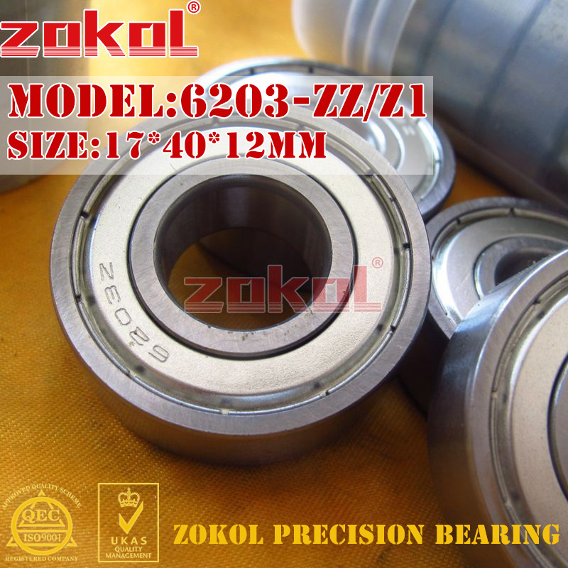 ZOKOL 6203ZZ bearing 6203 ZZ Z1 80203/Z1 6203Z Z Z1 Deep Groove ball bearing 17*40*12mm msd1306xs z1