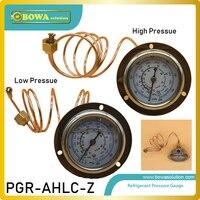 Par de R410a 1 e R32 óleo conjuntos de medidores de pressão enchido com 1 m comprimento da conexão é fácil de instalar e acesso à unidade de refrigeração