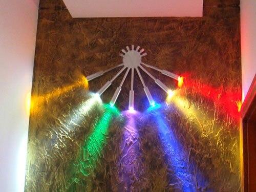 7 W 7 mur LED lumières haute puissance moderne décoratif luminaire ampoules lampe ventilateur forme pour chambre porche passerelle magasin #6021