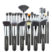 Professional High Quality Soft Taklon Her Makeup Artist Brush Premium 24 Pcs Makeup Brushes Set Tool