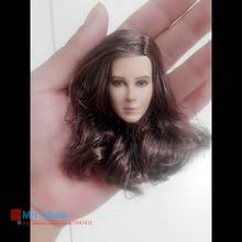 1 6 Headplay Figure Head Model Brown Long Hair Female Head Sculpt 12 Action Figure Collection