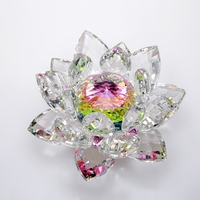 modern crystal Lotus figurines crafts creative Feng Shui ornaments Buddhist supplies gift home decoration mascot accessories