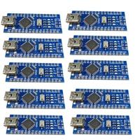 10PCS Mini USB Nano V3 0 ATmega328P 5V 16M Micro Controller Board Module For Arduino