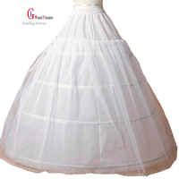 Free Shipping Sale Women Petticoat 3 Hoop Ball Gown Bone Full Crinoline Petticoat Wedding Skirt Wedding