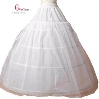 Free Shipping Sale Women Petticoat 3 Hoop Ball Gown Bone Full Crinoline Petticoat Wedding Skirt Wedding