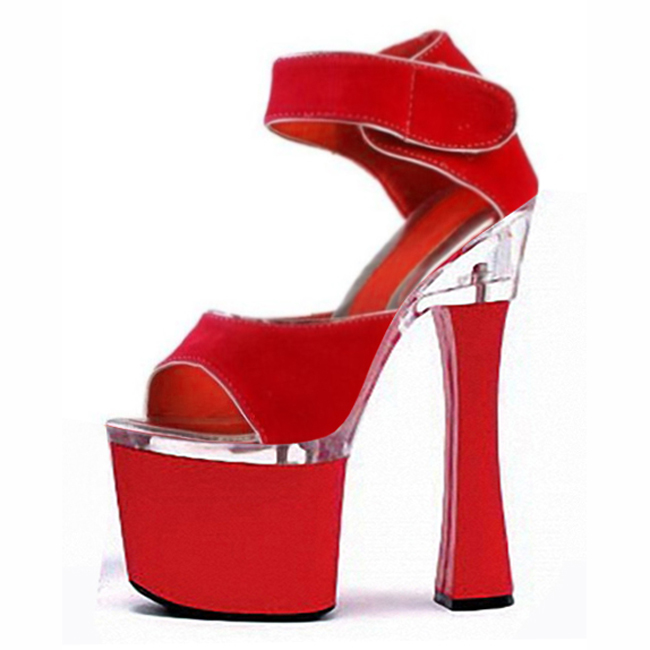 Spring 2016 fashion suede Roman hollow out package with 18 cm super high heels sandals nightclub shoes with big yards