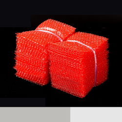 Red Color Double Film Bubble Bags/ Plastic PE two 2 layer Packing Envelopes/ Anti-static Shockproof Padded Pouches Bubble Bag