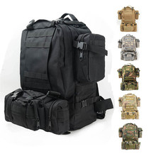 2015 New Hiking Camping Backpacks Sets Unisex Ployester Fabric Waterproof Tactical Military Travel Backpack Bag Free