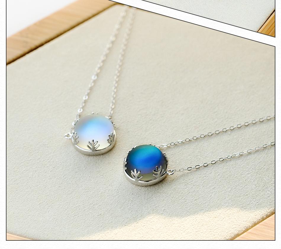 Halo Aurora Crystal Gemstone Necklace Scale Light Forest