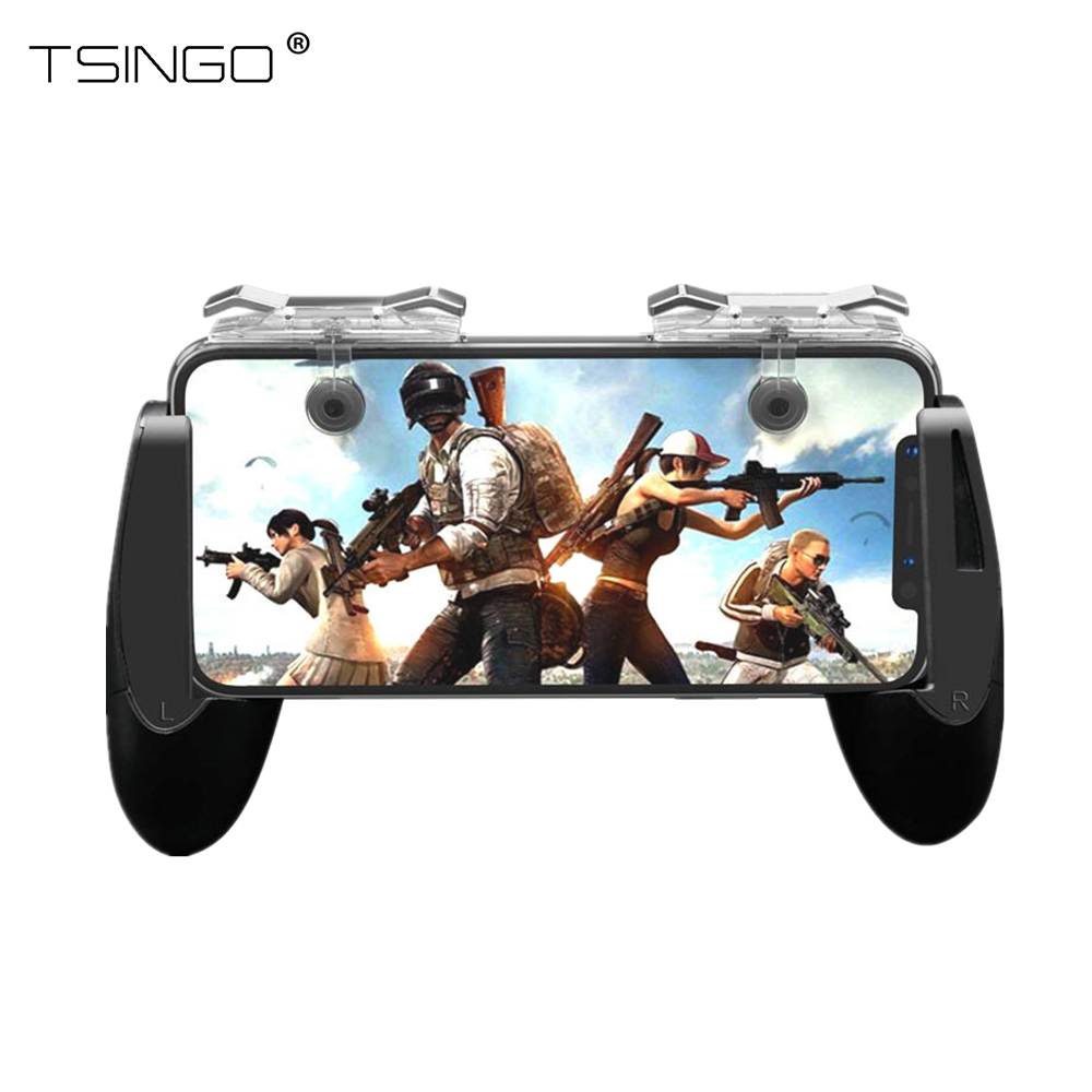 TSINGO For PUBG Mobile Game Controller L1R1 Trigger Fire Shooter And Aim Button Gaming Gamepad Joystick For IPhone Android Phone