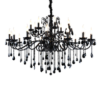 Transitional Black Chandelier Modern Chandelier Bedroom Metal Hanging Lamps Living Room Light Black Iron Chandelier Kitchen Lamp