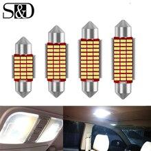 2pcs Car Interior Light C5W LED Festoon 31mm 36mm 39mm 42mm LED Bulbs 6000K White Dome Reading Light License plate Lamp Auto 12V