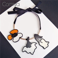 Comiya Hot Fashion Acrylic Hadmade Purple Necklaces For Women Anime Collier Online Shopping Indian Rope Statement